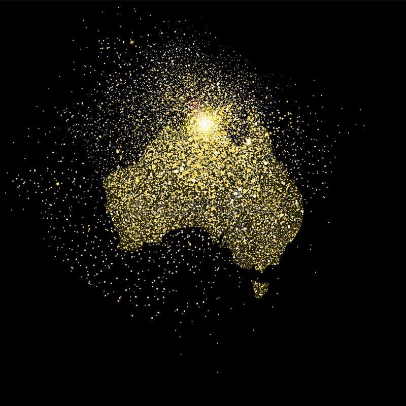 Ο χρυσός της Αυστραλίας ακτινοβολεί απεικόνιση συμβόλων έννοιας ελεύθερη απεικόνιση δικαιώματος