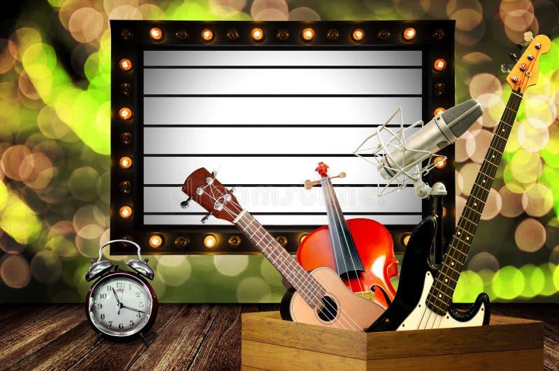 Ο χρόνος για τη μουσική παρουσιάζει σε καλή χρονιά στοκ εικόνες με δικαίωμα ελεύθερης χρήσης