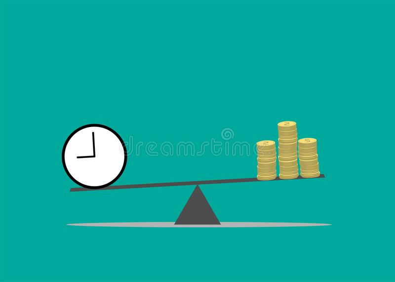 Ο χρόνος είναι έννοια χρημάτων στοκ φωτογραφία