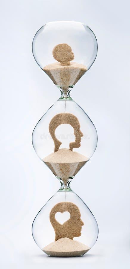 Ο χρόνος είναι αγάπη Συναισθηματική έννοια νοημοσύνης στοκ εικόνα με δικαίωμα ελεύθερης χρήσης