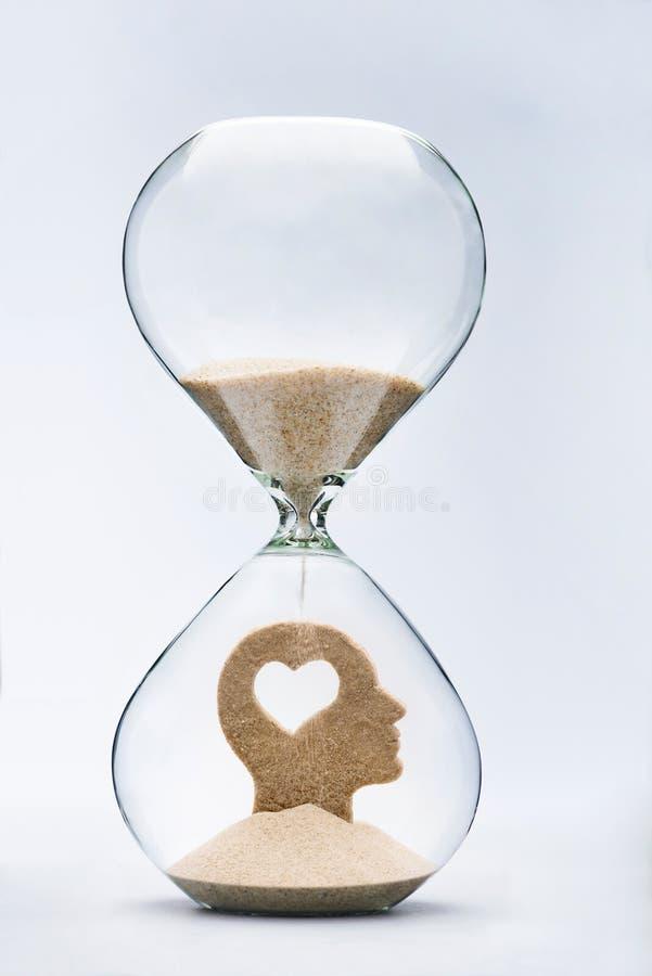 Ο χρόνος είναι αγάπη συναισθηματική νοημοσύν&eta στοκ εικόνες