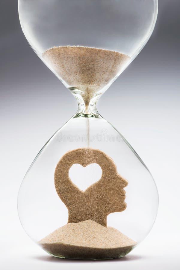 Ο χρόνος είναι αγάπη συναισθηματική νοημοσύν&eta στοκ εικόνες με δικαίωμα ελεύθερης χρήσης