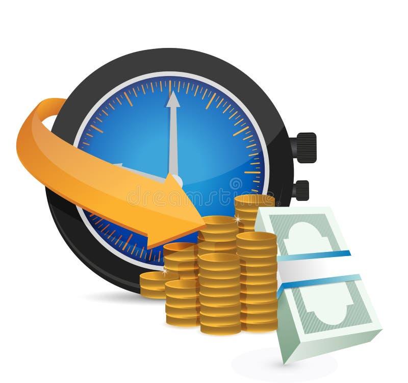 Ο χρόνος είναι απεικόνιση έννοιας χρημάτων ελεύθερη απεικόνιση δικαιώματος