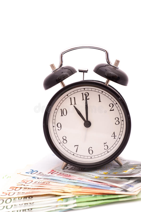 Ο χρόνος είναι επιχειρησιακή έννοια χρημάτων στοκ εικόνα