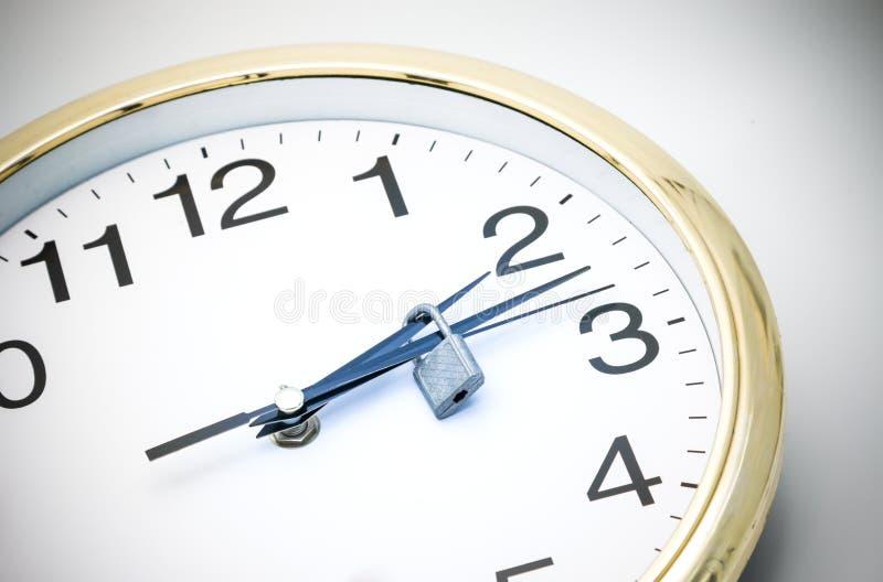 Ο χρόνος είναι κλειδωμένος στοκ εικόνα με δικαίωμα ελεύθερης χρήσης