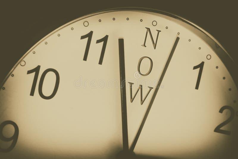 Ο χρόνος είναι τώρα με το αναδρομικό φίλτρο στοκ εικόνες με δικαίωμα ελεύθερης χρήσης