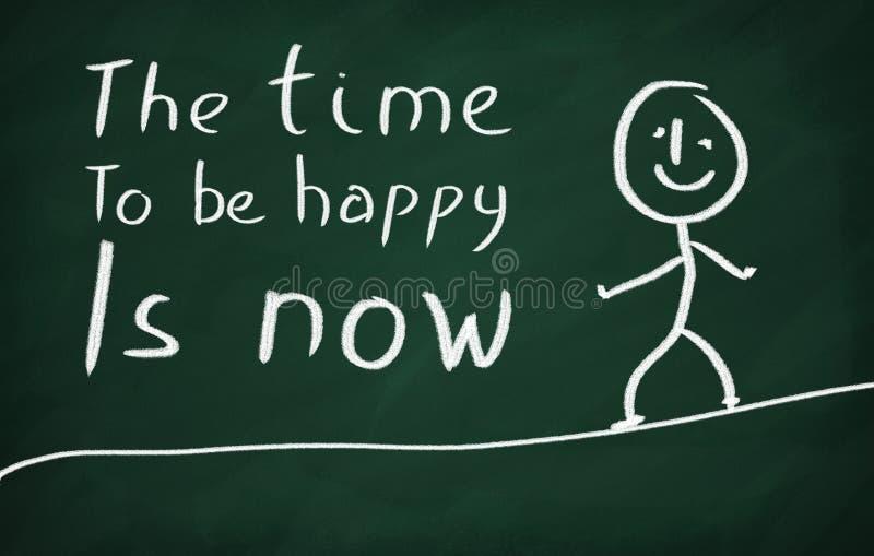 Ο χρόνος να είναι ευτυχής είναι τώρα στοκ εικόνες