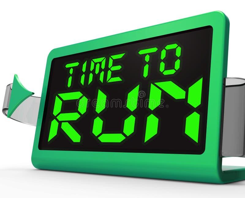 Ο χρόνος να τρεχτεί το ρολόι σημαίνει υπό πίεση και πρέπει να φύγει ελεύθερη απεικόνιση δικαιώματος