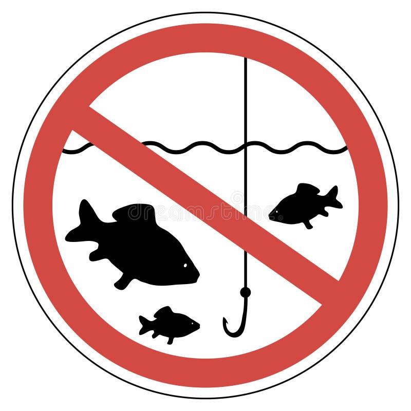 Ο χρόνος σημαδιών της ωοτοκίας, αλιεία είναι απαγορευμένος, ψάρια που δεν πιάνουν διανυσματική απεικόνιση