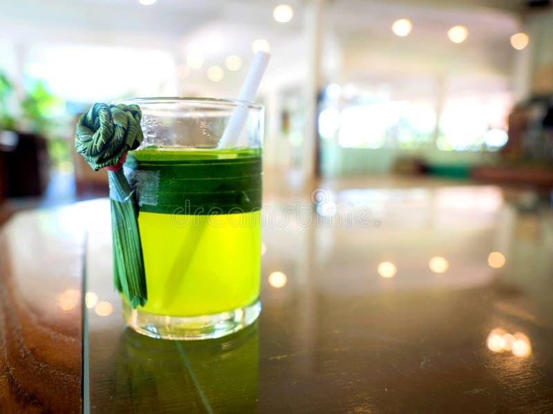 Ο χυμός Pandan έχει δροσιά στοκ φωτογραφία με δικαίωμα ελεύθερης χρήσης