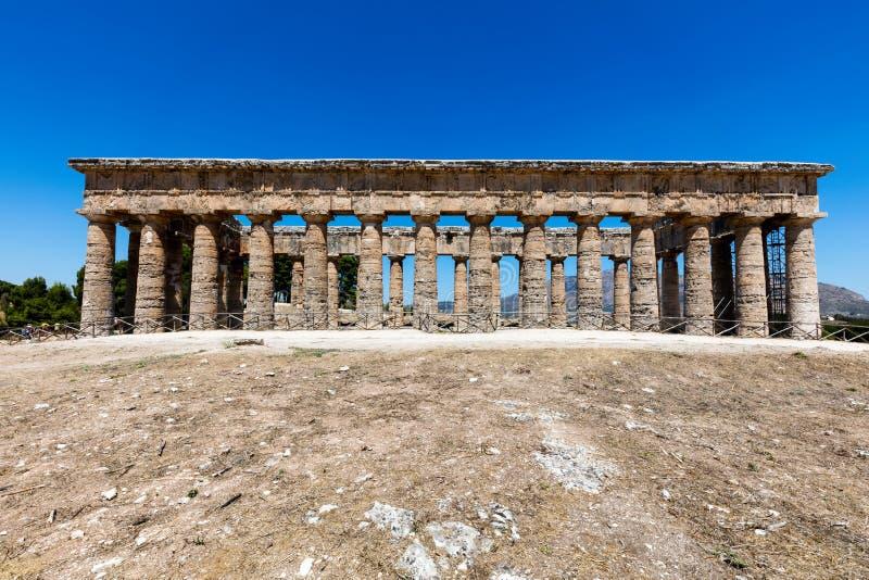 Ο δωρικός ναός Segesta στοκ εικόνα με δικαίωμα ελεύθερης χρήσης