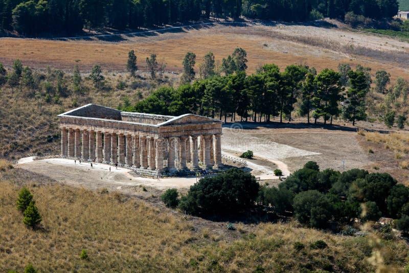 Ο δωρικός ναός Segesta στοκ εικόνες