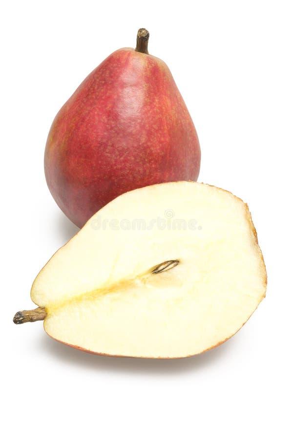 Ολόκληρο το αχλάδι και μισό αχλάδι στοκ εικόνα με δικαίωμα ελεύθερης χρήσης