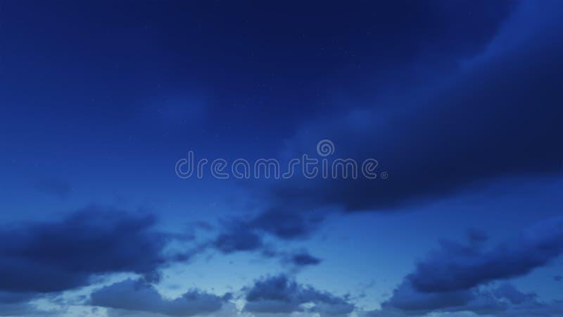 Ο όμορφος σαφής νυχτερινός ουρανός, τα σύννεφα είναι καλός απεικόνιση αποθεμάτων