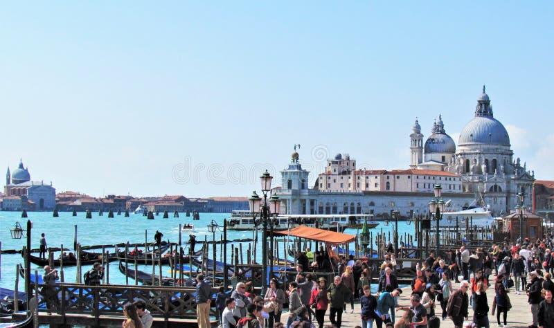 Ο όμορφος χαιρετισμός della Di Σάντα Μαρία βασιλικών Λα στη Βενετία, Ιταλία στοκ φωτογραφία με δικαίωμα ελεύθερης χρήσης