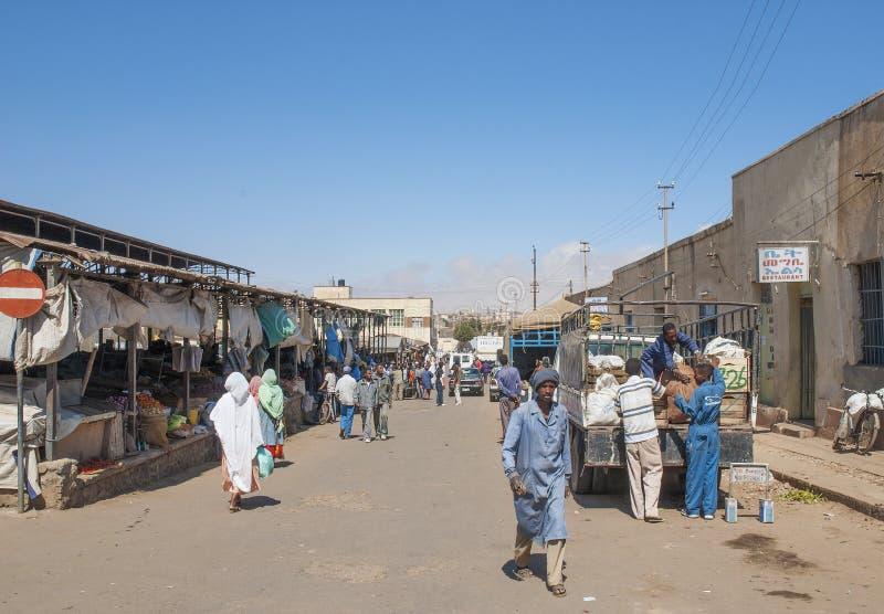 Οδός αγοράς στο asmara Eritrea στοκ φωτογραφία