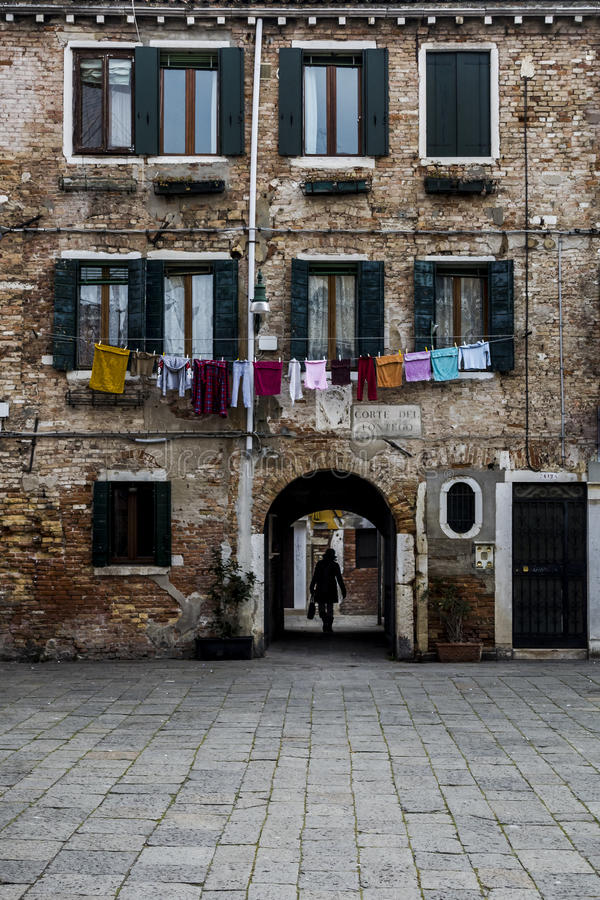 οδός Βενετία στοκ εικόνα με δικαίωμα ελεύθερης χρήσης