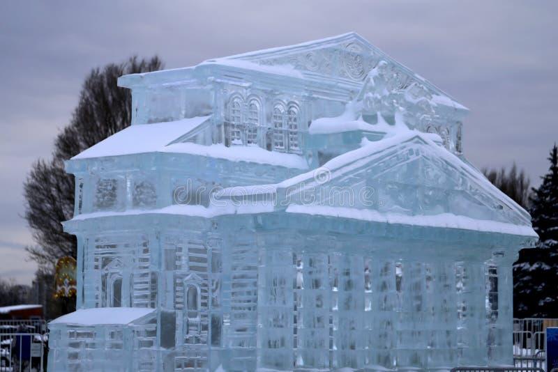 Οδός γλυπτών πάγου στοκ εικόνες