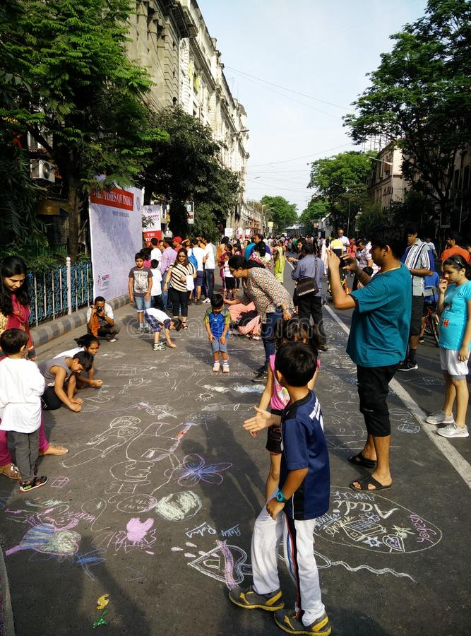 Οδός καρναβάλι στοκ φωτογραφίες