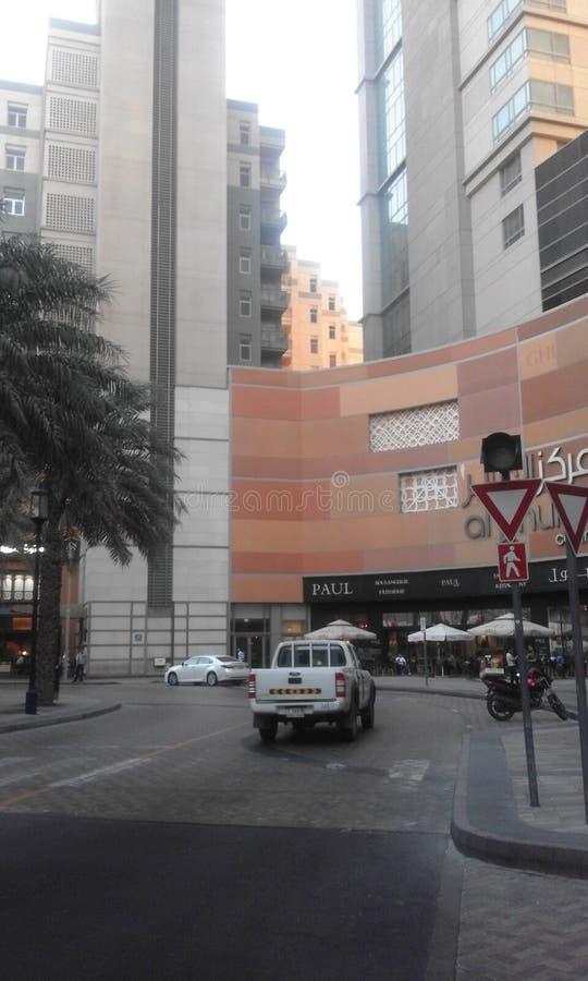 Οδός Ντουμπάι alrigga κεντρικών λεωφόρων Alghurair στοκ εικόνες