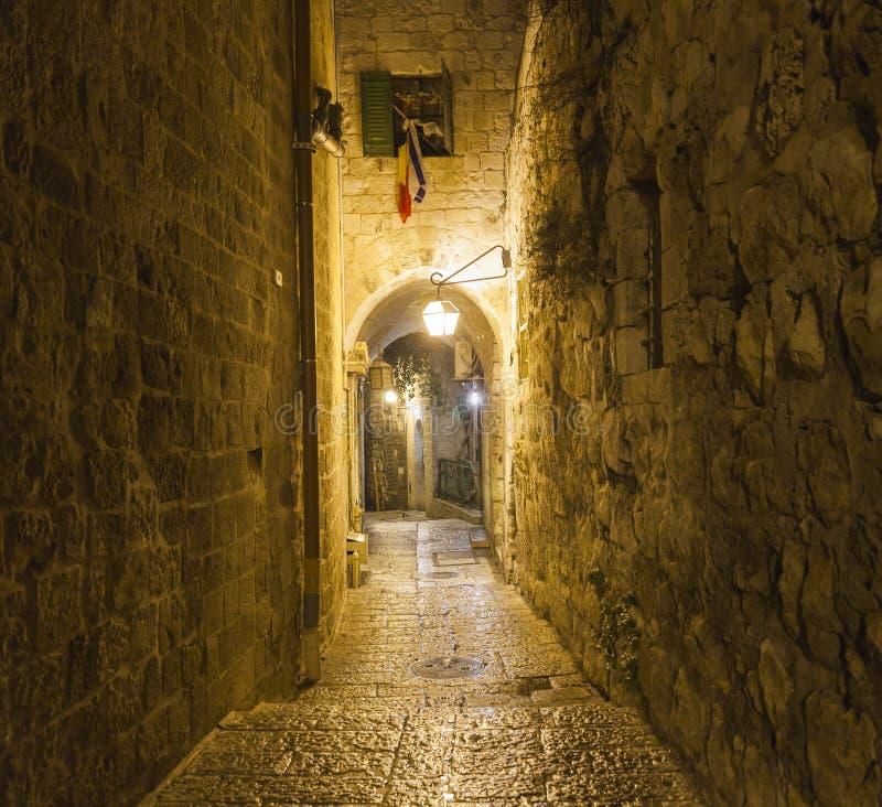 οδός νύχτας tianjin Ισραήλ Ιερουσαλήμ στοκ εικόνες