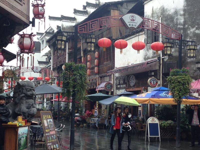 Οδός παραδοσιακού κινέζικου στοκ φωτογραφία με δικαίωμα ελεύθερης χρήσης
