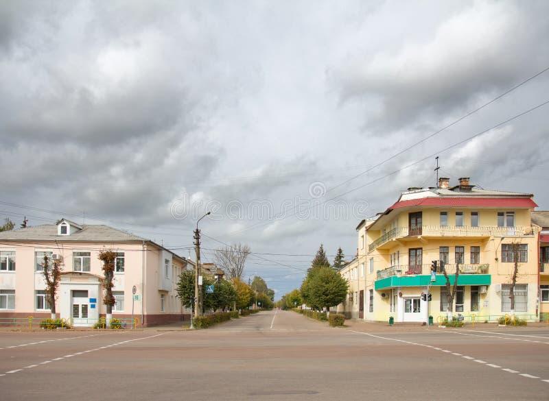 Οδός πόλεων σε Korosten, Ουκρανία στοκ φωτογραφίες