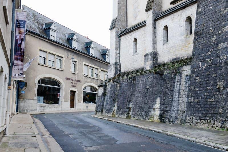 Οδός σε ιστορικό Blois στοκ εικόνες