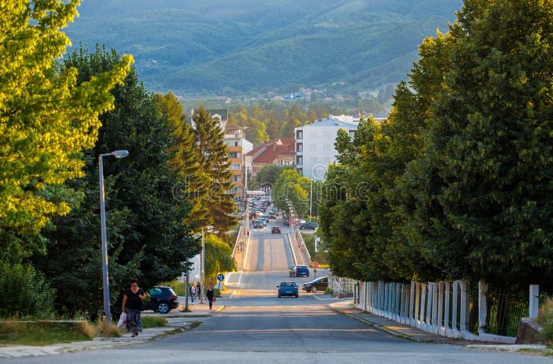 Οδός σε Berane, Μαυροβούνιο στοκ φωτογραφία με δικαίωμα ελεύθερης χρήσης