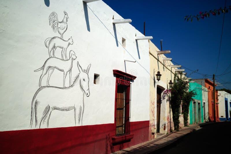 Οδός σε Tequisquiapan, Μεξικό στοκ εικόνες