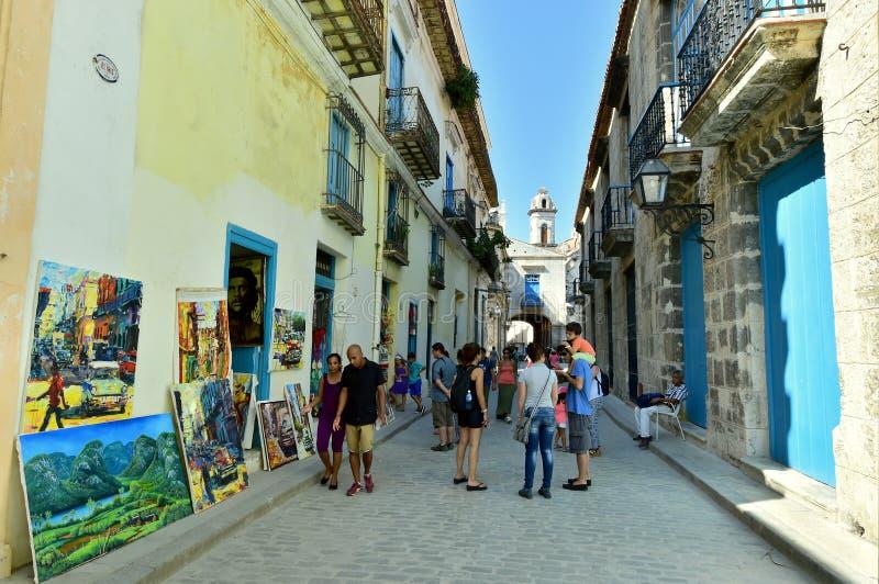 Οδός στην παλαιά Αβάνα στοκ φωτογραφία με δικαίωμα ελεύθερης χρήσης