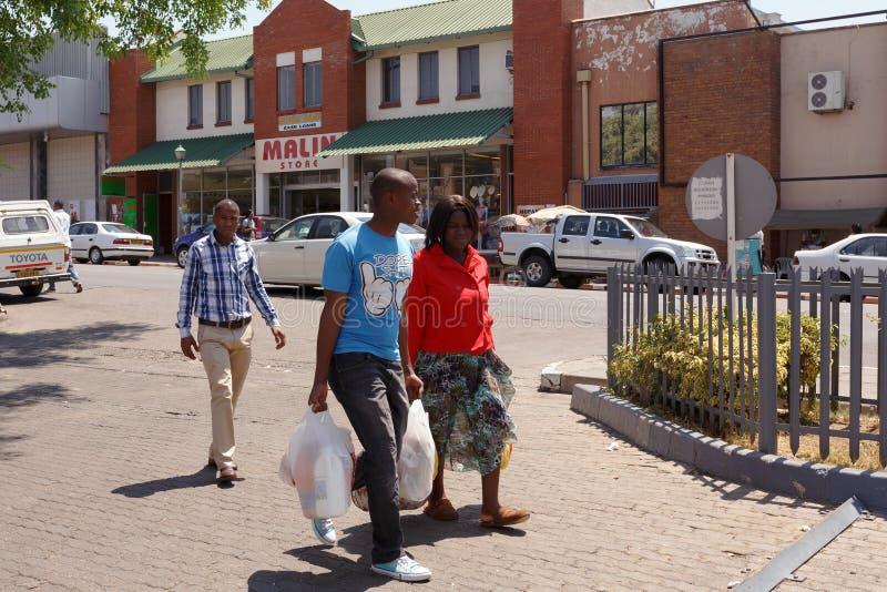 Οδός στην πόλη του Francis, Μποτσουάνα στοκ εικόνα με δικαίωμα ελεύθερης χρήσης
