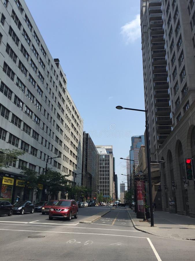 Οδός στο Μόντρεαλ στοκ εικόνα