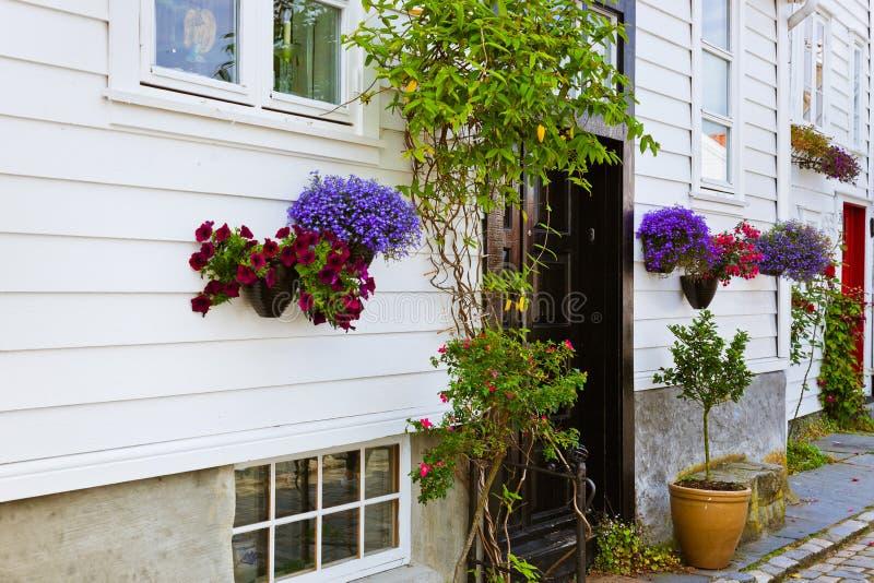 Οδός στο παλαιό κέντρο του Stavanger - της Νορβηγίας στοκ φωτογραφίες