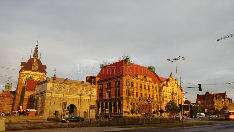 Οδός της Πολωνίας μετά από τη βροχή στοκ εικόνα
