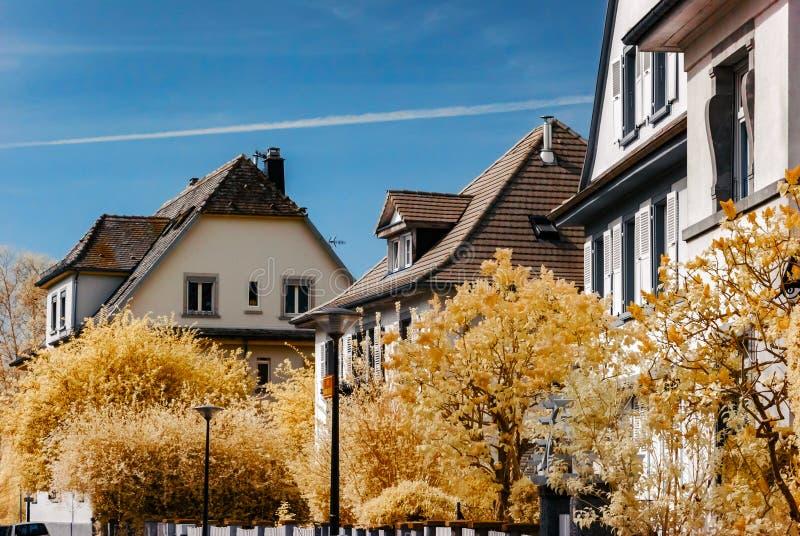 Οδός του Στρασβούργου, infre κόκκινη άποψη στοκ φωτογραφία