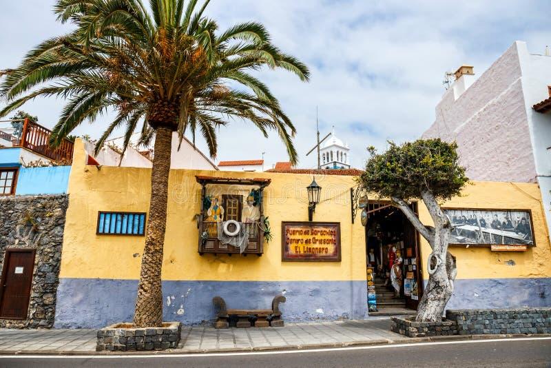Οδός Garachico της πόλης Tenerife στο νησί, καναρίνι, Ισπανία στοκ εικόνες με δικαίωμα ελεύθερης χρήσης