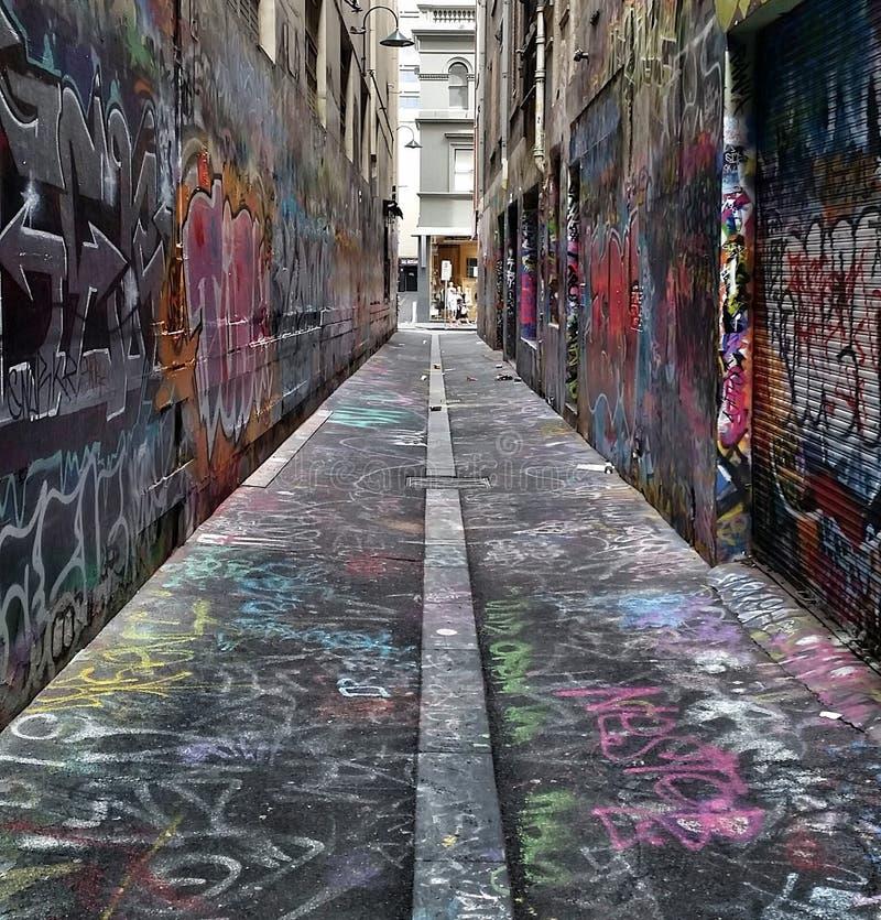 Οδός Graphiti στοκ φωτογραφία με δικαίωμα ελεύθερης χρήσης