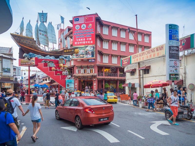 Οδός Jonker, Malacca Μαλαισία στοκ φωτογραφία με δικαίωμα ελεύθερης χρήσης