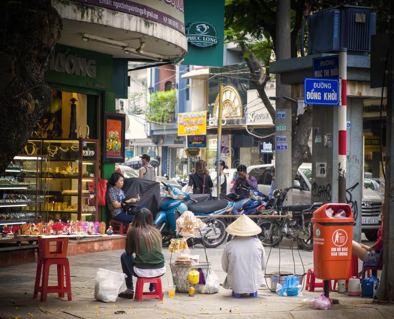 Οδός Khoi ήχων καμπάνας, πόλη Χο Τσι Μινχ στοκ εικόνα με δικαίωμα ελεύθερης χρήσης