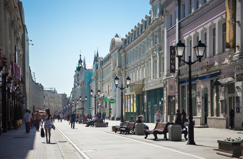 Οδός Nikolskaya στοκ εικόνες