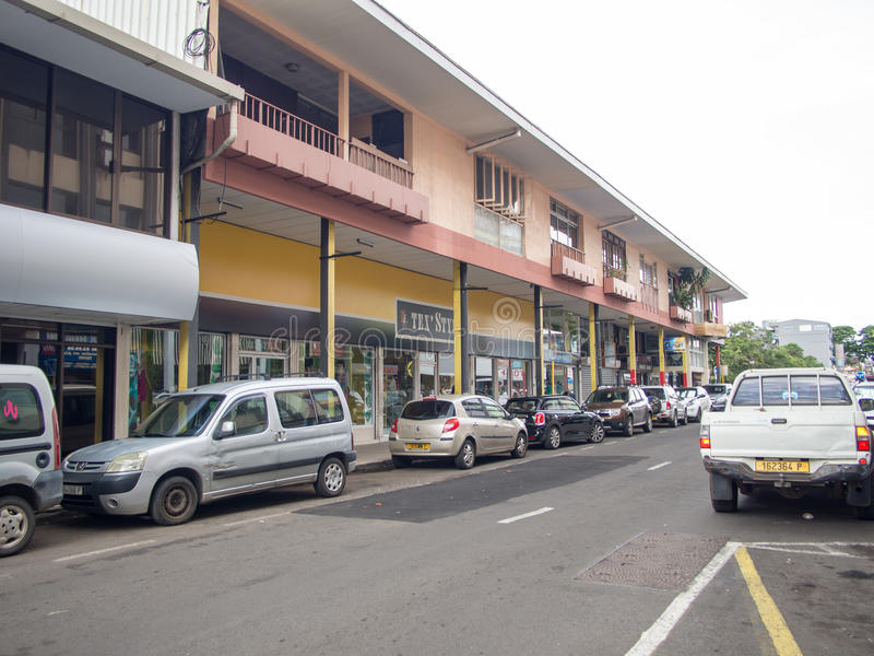 Οδός rue Paul Gauguin, Papeete, Ταϊτή, γαλλική Πολυνησία στοκ φωτογραφίες