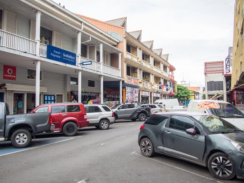 Οδός rue Paul Gauguin, Papeete, Ταϊτή, γαλλική Πολυνησία στοκ φωτογραφία με δικαίωμα ελεύθερης χρήσης