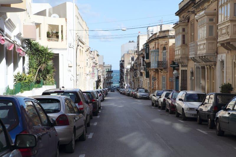 Οδός Sliema Μάλτα στοκ φωτογραφία με δικαίωμα ελεύθερης χρήσης