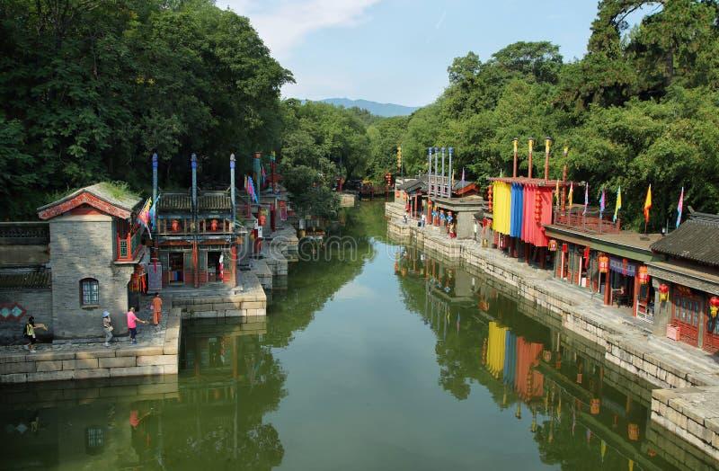 Οδός Suzhou του θερινού παλατιού, Πεκίνο στοκ εικόνες