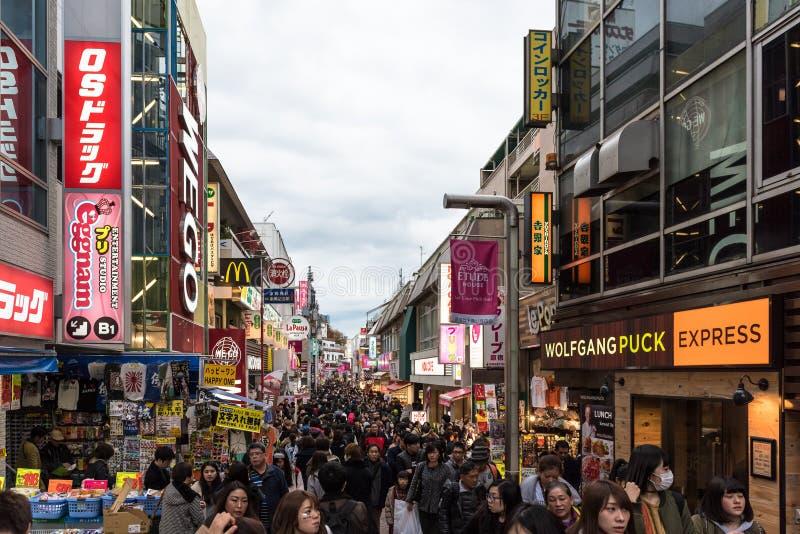 Οδός Takeshita στην περιοχή Harajuku του Τόκιο, Ιαπωνία στοκ φωτογραφία με δικαίωμα ελεύθερης χρήσης