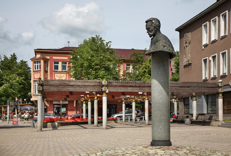 Οδός Vilniaus σε Siauliai Λιθουανία στοκ φωτογραφία