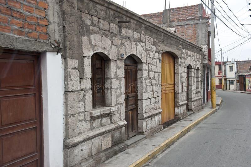 Οδόστρωμα Arequipa στοκ εικόνες