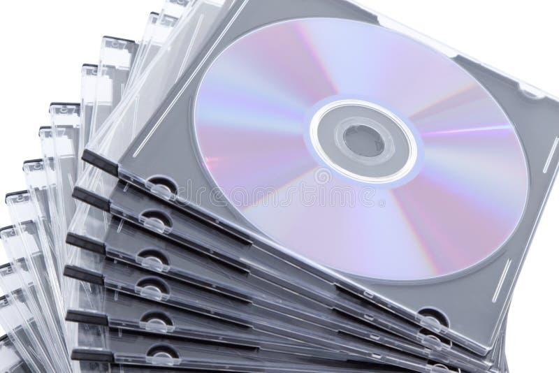 Κιβώτιο του CD DVD στοκ εικόνες