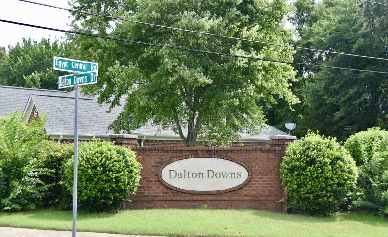 Ο Dalton κατεβάζει την υποδιαίρεση, Bartlett, TN στοκ φωτογραφία με δικαίωμα ελεύθερης χρήσης